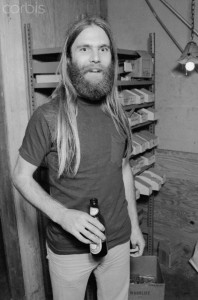 Brent Mydland Holding a Beer